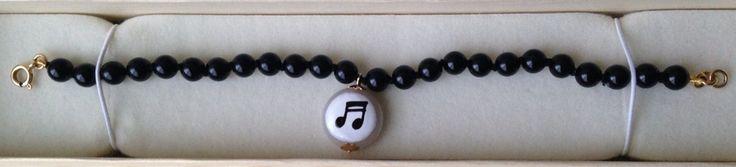 "Bracciale ""nota musicale"" linea Basic. Oro 18Kt. Anna Stile Jewels"