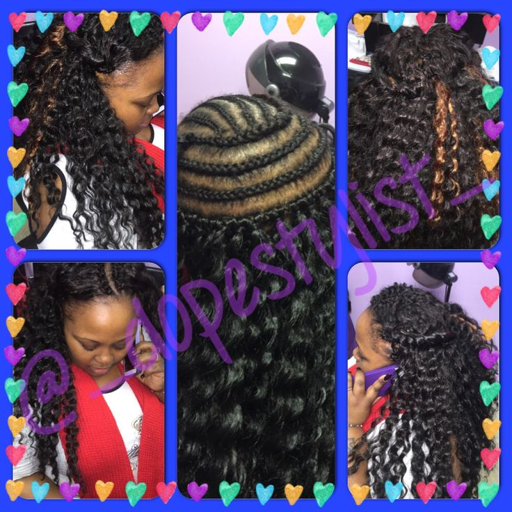 Crochet braid style used with Freetress Deep Wave hair 4 packs Im ...