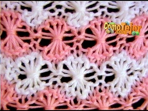 Como Tejer Punto Cruzado-Indian Cross Stitch 2 Agujas (130) - YouTube