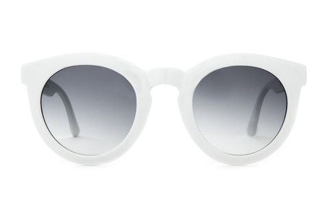 The T.V. Eye - Gloss White w/ Grey Gradient CR-39 Lenses | CRAP Eyewear