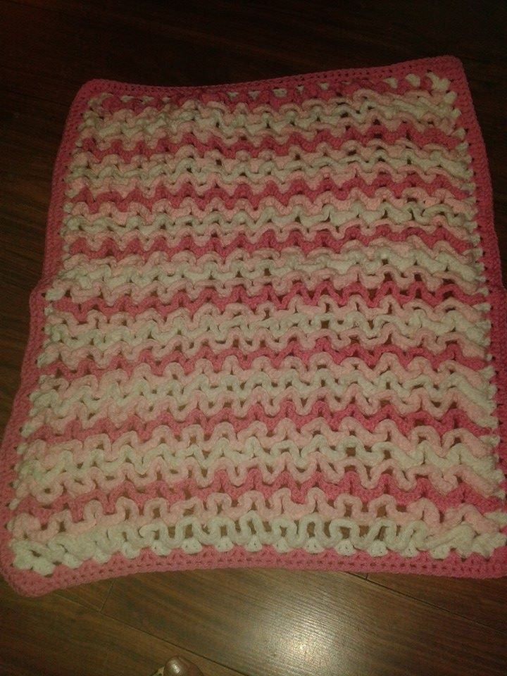 Crocheted pram blanket