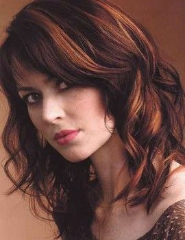 brown hair with red highlights | warm highlights lowlights 4 hairstyles com warm highlights lowlights 4 ...