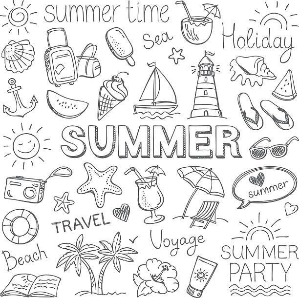 Summer Illustration Vecteurs et Illustrations Libres de Droits - iStock