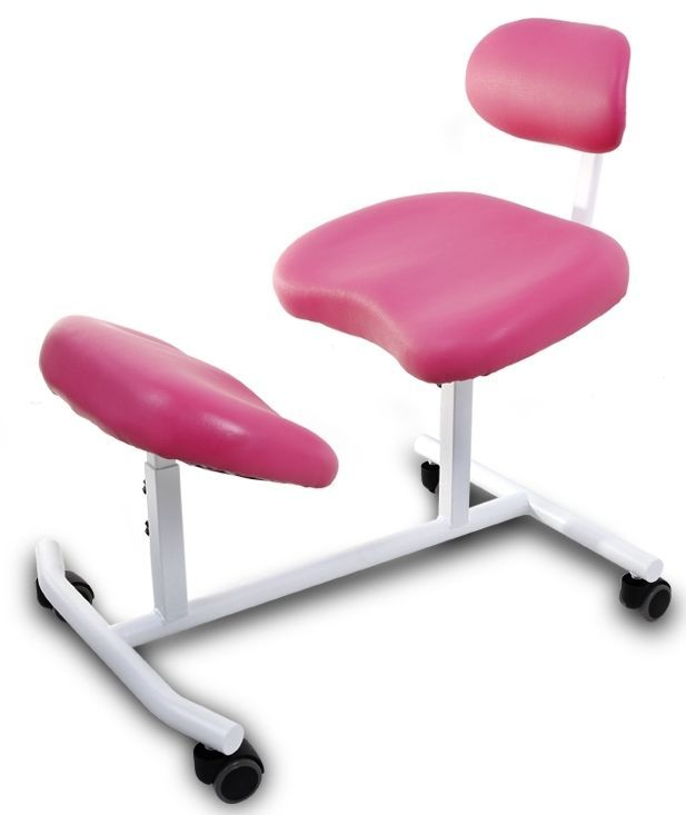 Pink Kneeling Chair Adjustable Knee Stool Balans Lower
