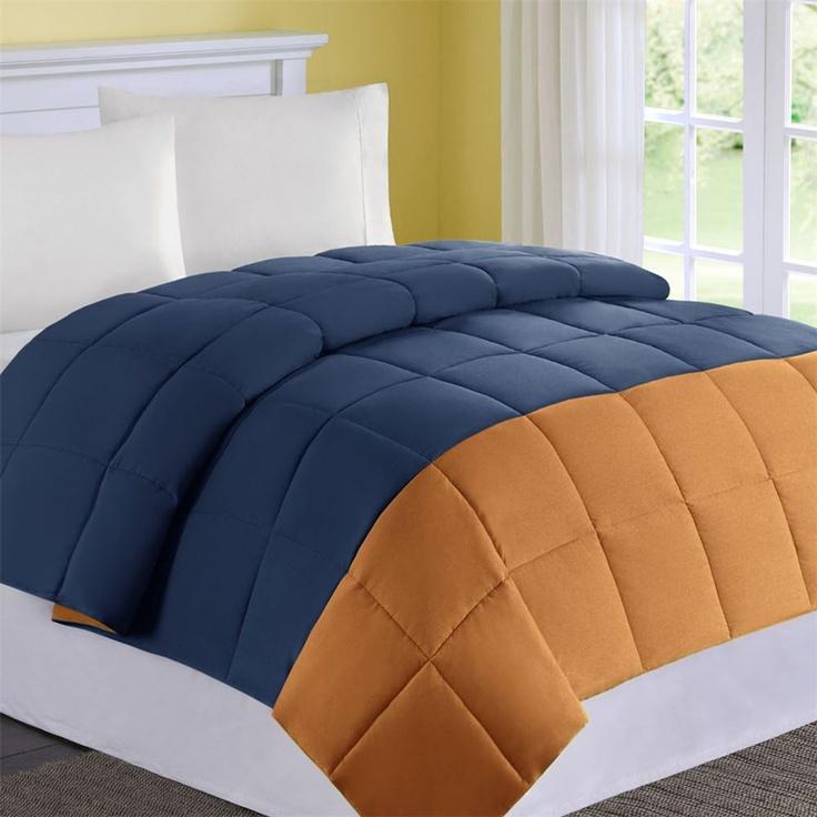 24 best images about orange on pinterest orange chevron - Navy blue and orange bedding ...