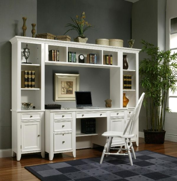 Bedroom Office Furniture: I Love This Desk! Love The Shelves On Both Sides Of The