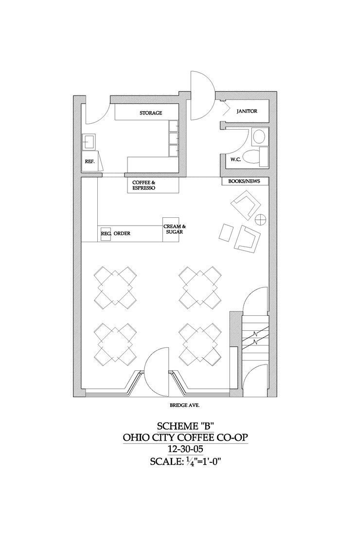 Best ergonomic space plan for coffee shop - Google Search