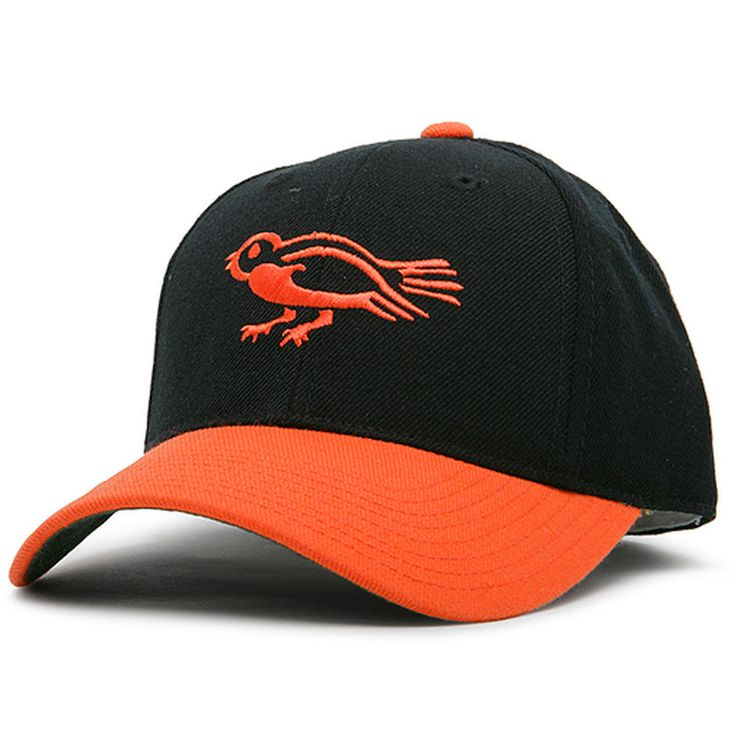 Baltimore Orioles American Needle Historic Cooperstown Fitted Hat - Black/Orange
