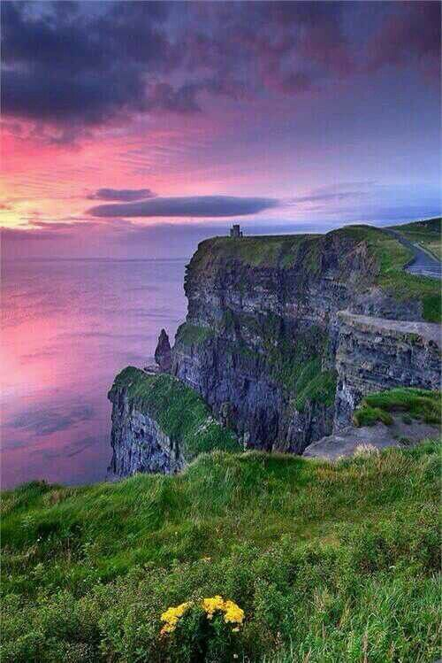 Ireland...  Could this be Meggie's cliffs? The cliffs she shared with her love and where she ended her life? Meggie is a past life who found and lost the great love of her life. She is soon to be featured in a new genre of romance novel featuring stories of past life regression tales. I am writing and attempting to find the proof now so Meggie lives on.