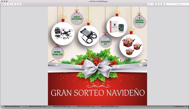 ¡Ganadores de nuestro SORTEO NAVIDEÑO ELECTROTEC!   Ganador 1 -  70464495  (DRONE SYMA)   Ganador 2 -  43838960  (OSCILOSCOPIO HANTEK)   Ganador 3 -  47071083   (RASPBERRY PI 3)   Ganador 4 -  43263256  (CANASTA NAVIDEÑA)   Ganador 5 -  74659205  (CANASTA NAVIDEÑA)   Ganador 6 -  43172672   (CANASTA NAVIDEÑA)  - A los demás participantes se les estará haciendo entrega de un KIT de manuales virtuales de todos nuestros cursos.  - A los ganadores por favor enviar una foto de sus TICKETS al…