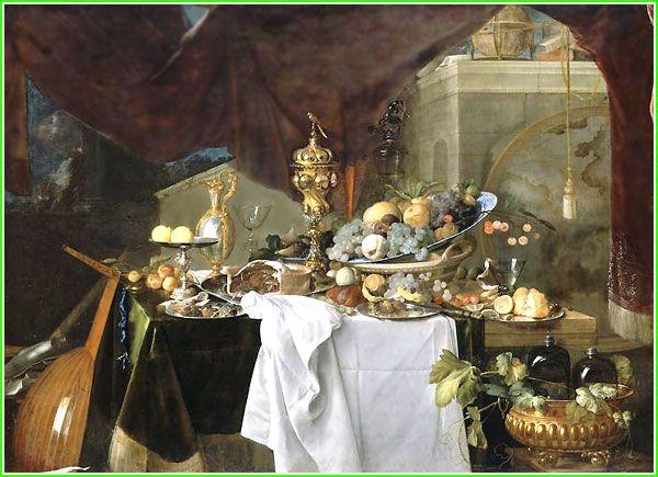 Fruits et riche vaisselle sur une table jan davidsz de - Vaisselle table passion ...