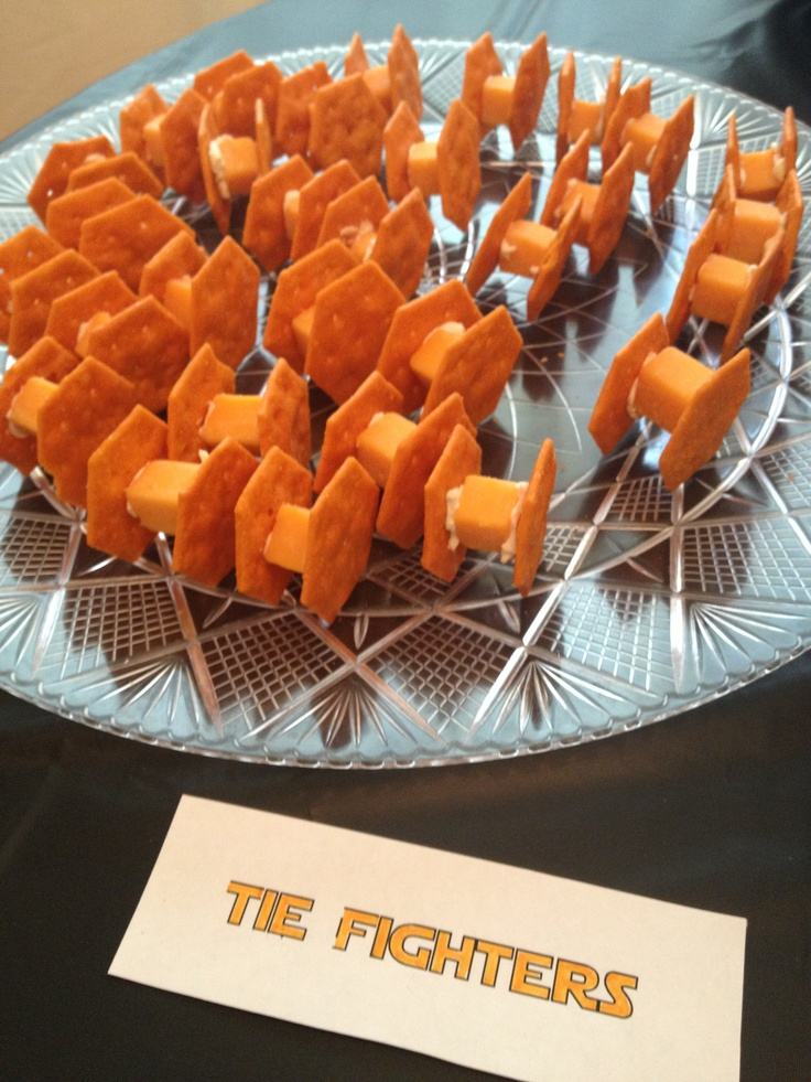 Star Wars Party Snacks Tie Fighters Cheese Cream