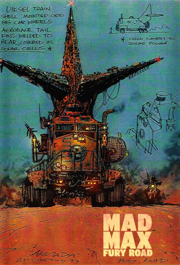 Mad Max: Fury Road - concept art - Brendan McCarthy
