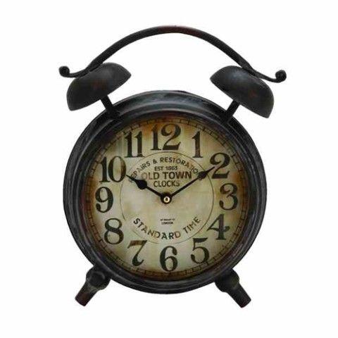 Antique Look Metal Table Clock