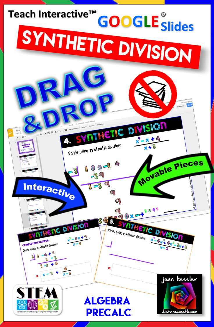 Drag And Drop Synthetic Division With Google Slides For Algebra 2 Or Precalculus Paperless And No Prep For You Teaching Algebra Algebra Resources Precalculus