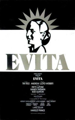 Evita - Broadway Poster