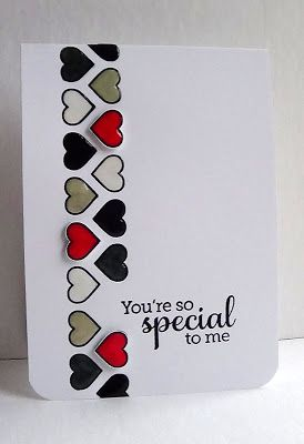 A quick post today...made this card with a border from W Plus 9 Background Builders Hearts and a sentiment from Hero Arts Year Round Sentiments.