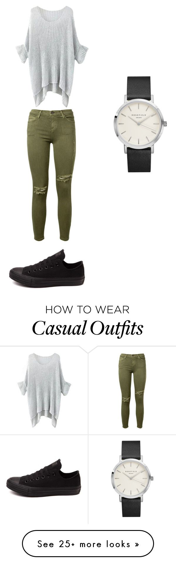 """Casual"" by golda7 on Polyvore featuring Current/Elliott and Converse"
