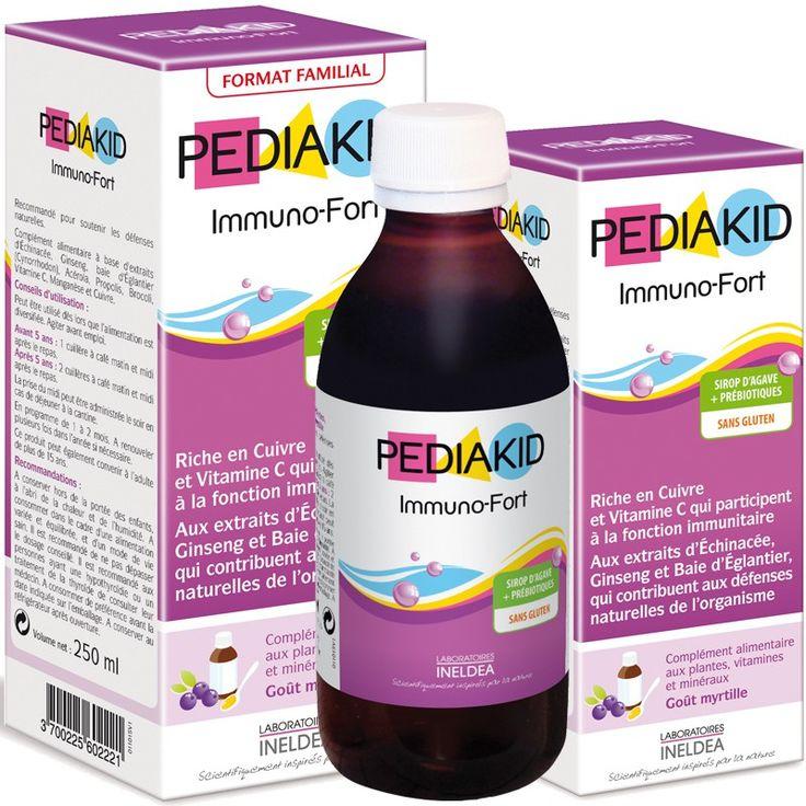 Pour soutenir les défenses naturelles des enfants, Pediakid Immuno-fort, un complément alimentaire composé d'actifs naturels, aide à prévenir les maux temporaires comme la fatigue passagère.