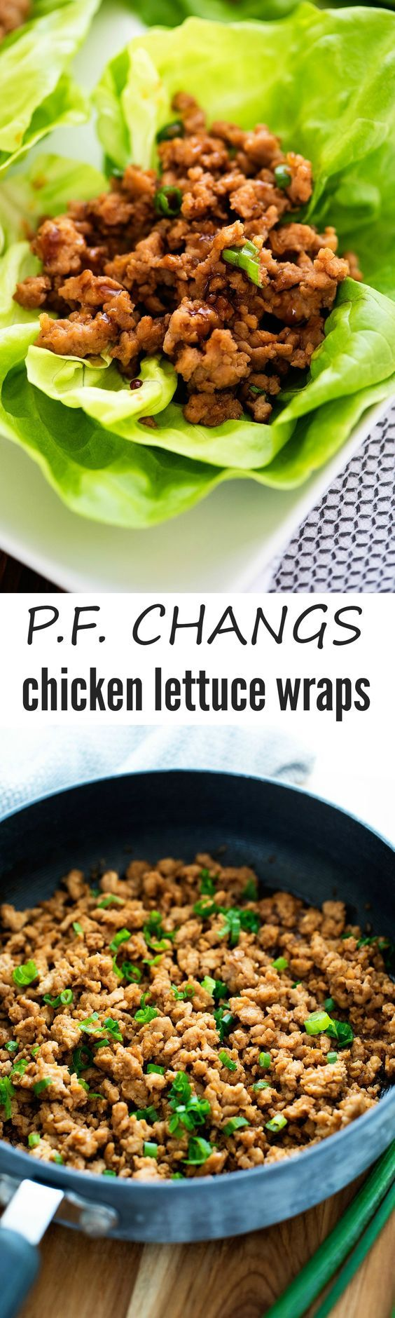 Copycat P.F. Chang's chicken lettuce wraps! These taste amazing!