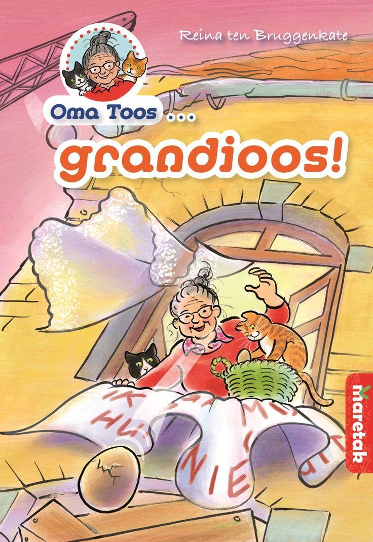 Oma Toos is een leuk boek over een oma die gek is op haar katten en haar vrijheid. Voor elk probleem weet ze een oplossing. Lees hier meer over dit boek.