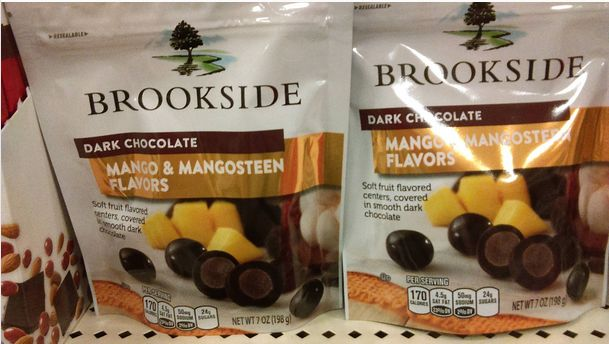 Brookside Dark Chocolate Mango and Mangosteen Flavor Candy