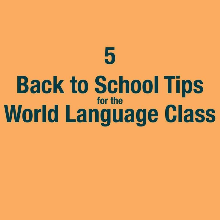 Language Teachers' Cafe: Five Back to School Tips for the World Language Classroom