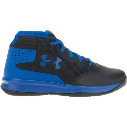 Under Armour Boys' Jet Basketball Shoes (Black/Bright Blue, Size 2) - Youth Basketball Shoes at Academy Sports