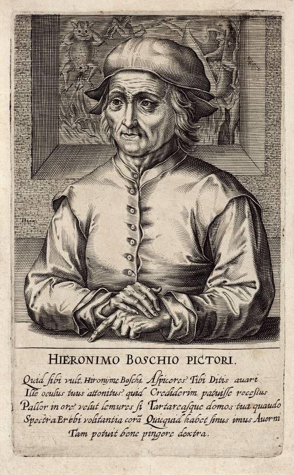 """Hendrik Hondius (1573–1650): Hieronymus Bosch, aus der Serie """"Pictorum aliquot celebrium praecipué Germaniae inferioris effigies"""""""