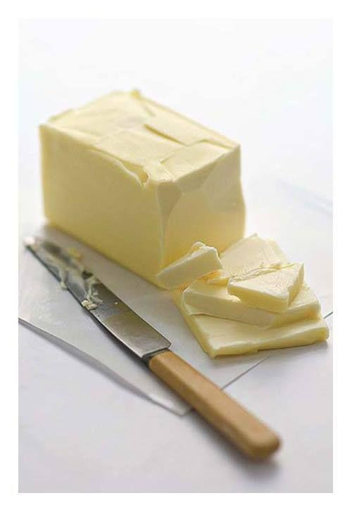 80 g de mantequilla es perfecta para volver los dulces friables.