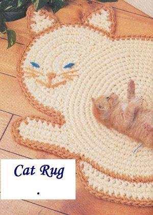 Cat Rug Crochet Pattern by maxine