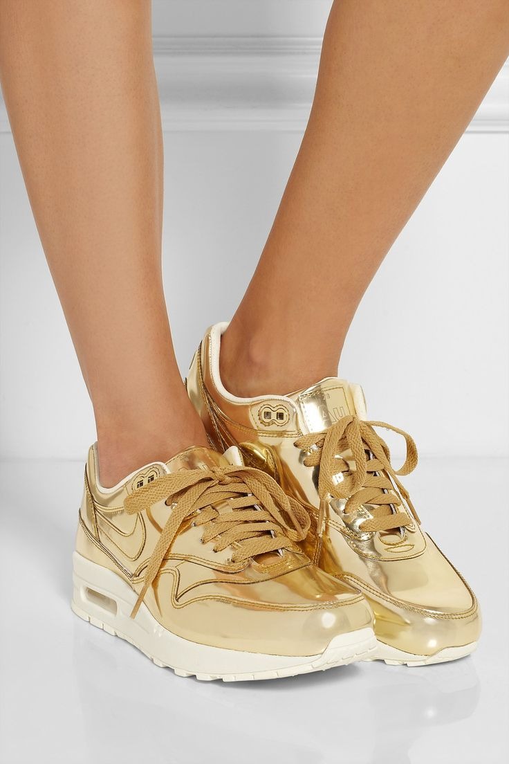 Metallic Moment: high-shine finishes lend lustre to fall. Nike | Air Max.... Obsessed with these!