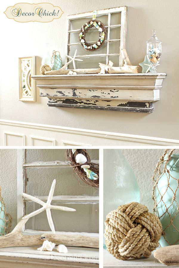 Summer Mantel Link Party | The Lettered Cottage   Cape Cod Chic.
