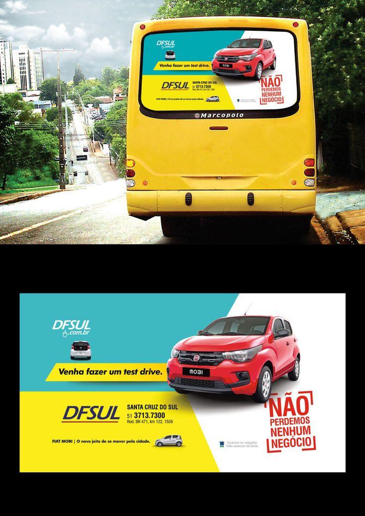 Cliente: DFSUL concessionária Santa Cruz do Sul  Material: Busdoor  Agência: BAG propaganda