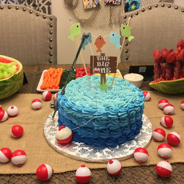 Cake Decorations Fishing Theme : 25+ best ideas about Fishing birthday cakes on Pinterest ...