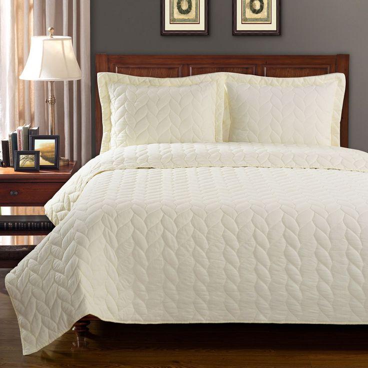 Simple Elegance Ashley Braided 100-percent Cotton 3-piece King Size Quilt Set