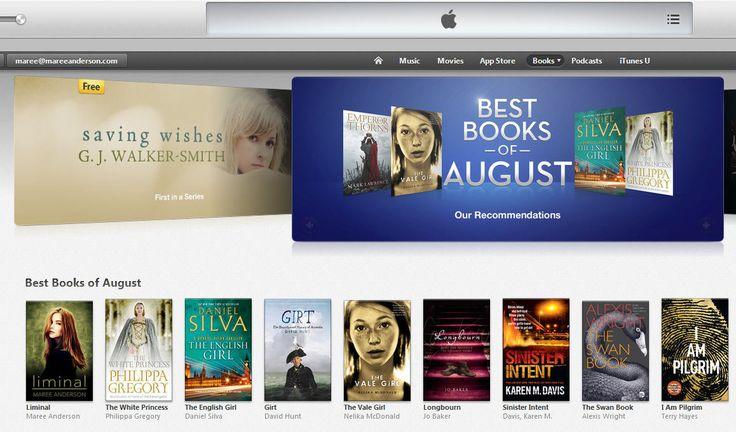 iBookstore AUS/NZL Best Books of August: Liminal -- woohoo! www.liminalbook.com