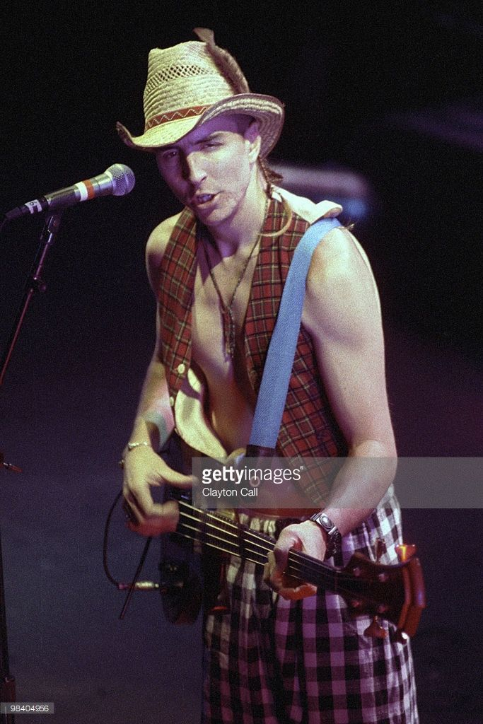 Les Claypool performing with Primus at the Warfield Theater in San Francisco on August 24, 1991.