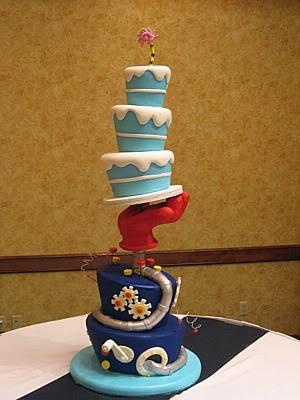 Dr. Seuss Theme Cake...Awesome!