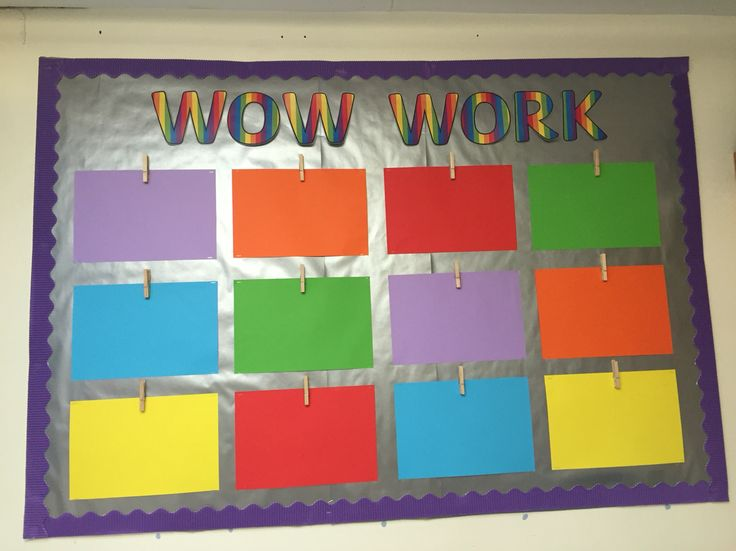 Wow Work Display Board Display Board Display Preschool