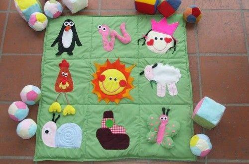 Manta didactica para bebes beb pinterest bebe - Alfombra actividades bebe ...