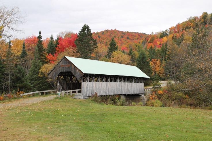 Covered bridge in Bethel, Maine.