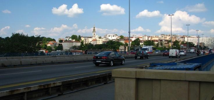 Entering Old Belgrade through the Brankov bridge.