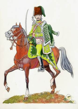 Szekely Hussars Officer. Prussian army, 1750