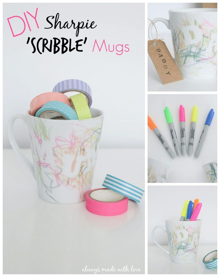 DIY Sharpie 'Scribble' Mugs - Always Made With Love