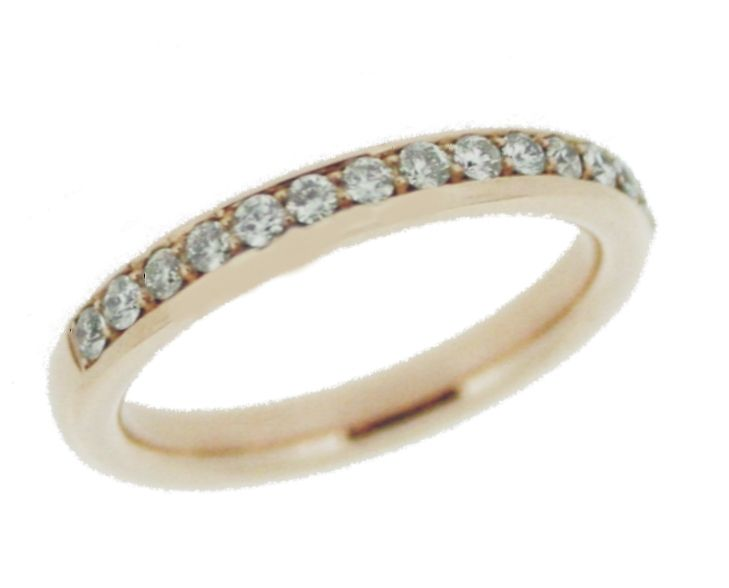 Handmade 18ct Rose Gold Diamond Wedding Ring @ Lorimat Jewellers Kilkenny