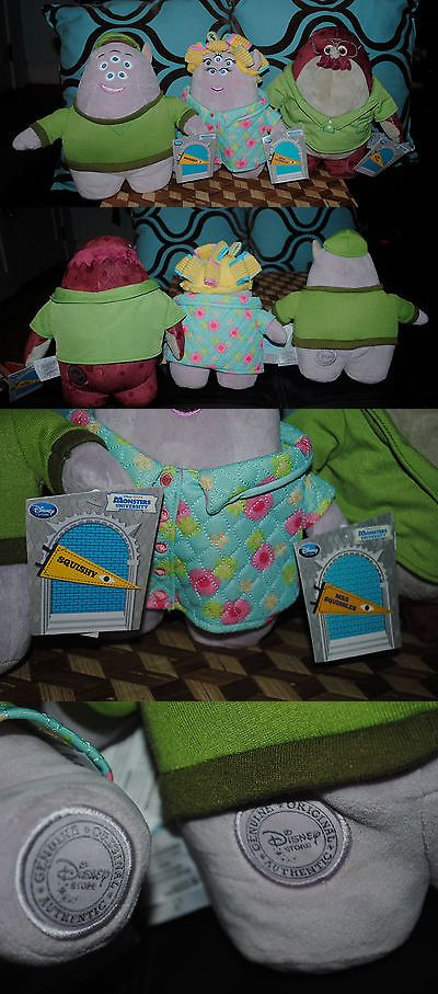 Monsters Inc 44038: Monsters University 3 Plush Lot Family Mrs. Squibbles Squishy Don Carlton New -> BUY IT NOW ONLY: $40 on eBay!