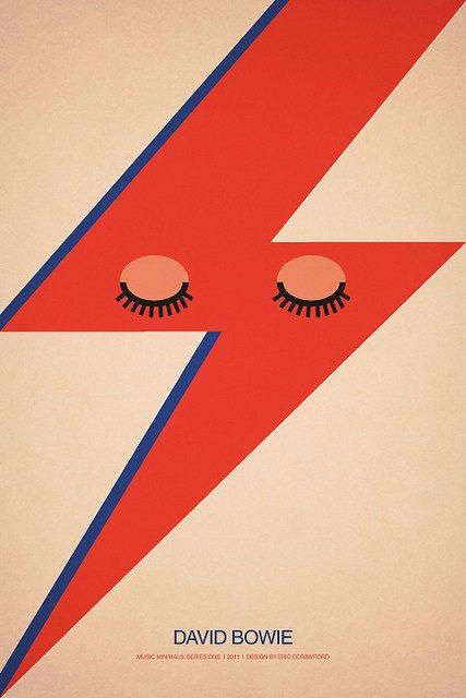 David Bowie cartaz minimalista