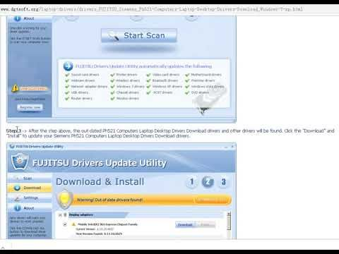 fujitsu drivers update utility license key download