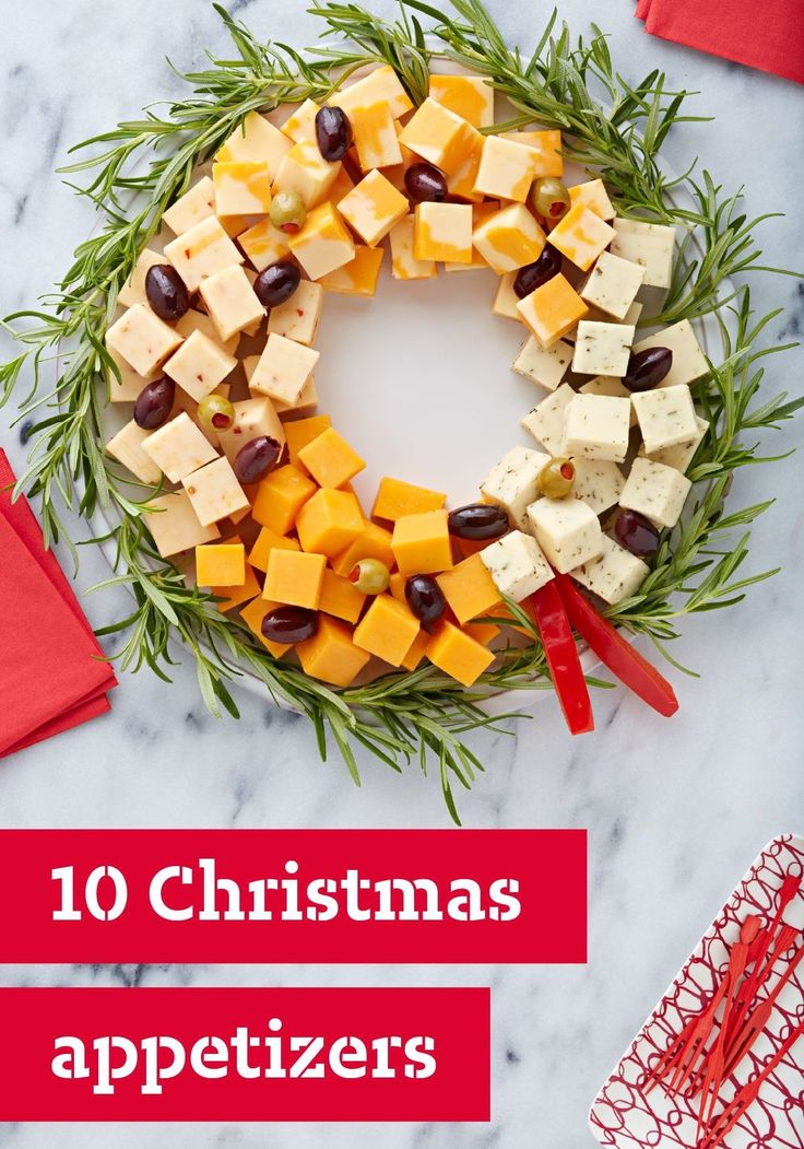 Christmas Cheese Wreath